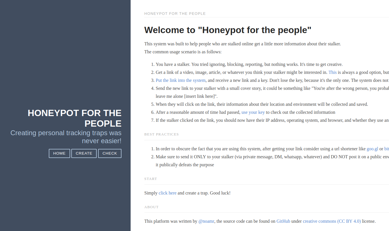 the honeypot system